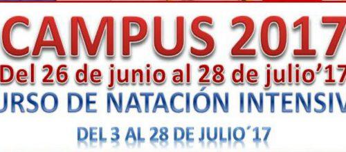 CAMPUS Y CURSO INTENSIVO DE NATACIÓN EN JULIO 2017