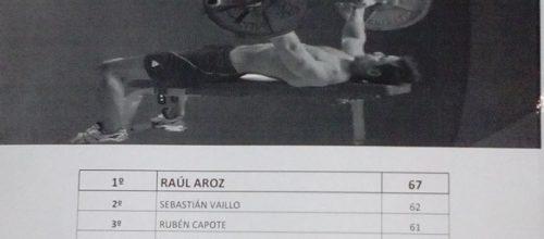 Raúl Aroz campió del II Campionat de Press Banca