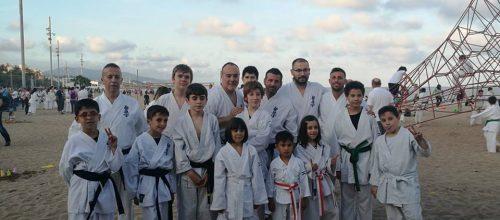 L'Escola Karate CER a l'entrenament nocturn
