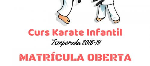 Curs Karate Infantil 18/19